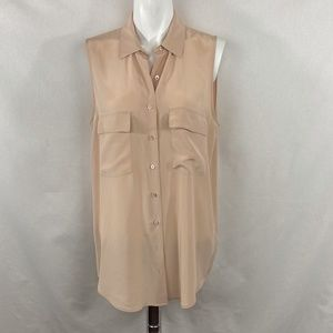 Equipment Sleeveless Silk Blouse - S